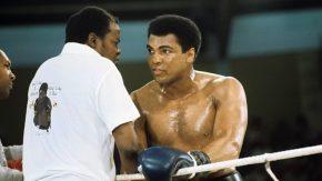 Muhammad Ali im Training vor dem Kampf gegen Dunn