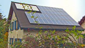 Haus-Solaranlage