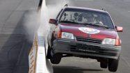 Betonschutzwand für Autobahnen im Test