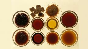 Farbe verschiedener Zuckerarten