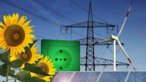 Alternative Energien-Sonnenenergie Windenergie