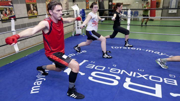 Fitnessboxer beim Training