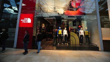 The North Face-Filiale in Londons grˆfltem Einkaufszentrum