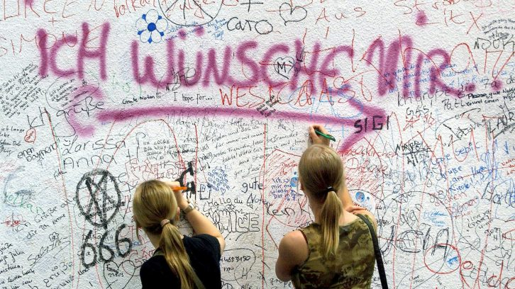 Wünsche auf einer Wunsch-Wand