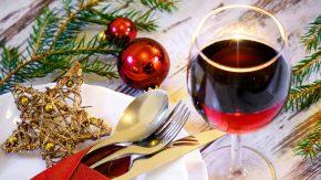 Wein zum Weihnachtsessen