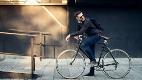 Fahrrad Retro Trend: Ledersattel und Ledergriffe