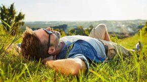 Im Grünen kann man am besten entspannen