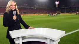 Valeska Homburg moderierte für Liga Total