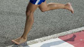 Einen Marathon barfuß laufen