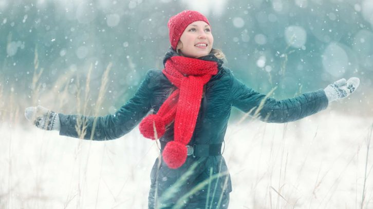 Weihnachten bedeutet auch, sich am Schnee zu freuen