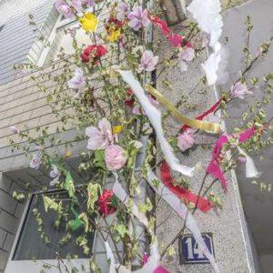 Maibaum als Zeichen der Liebe