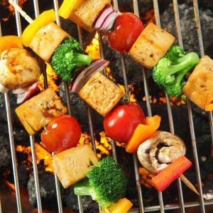 Vegan grillen - Tofuspieße