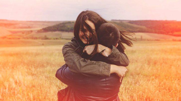 Umarmen macht glücklich