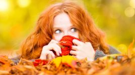 Schöne Haare im Herbst