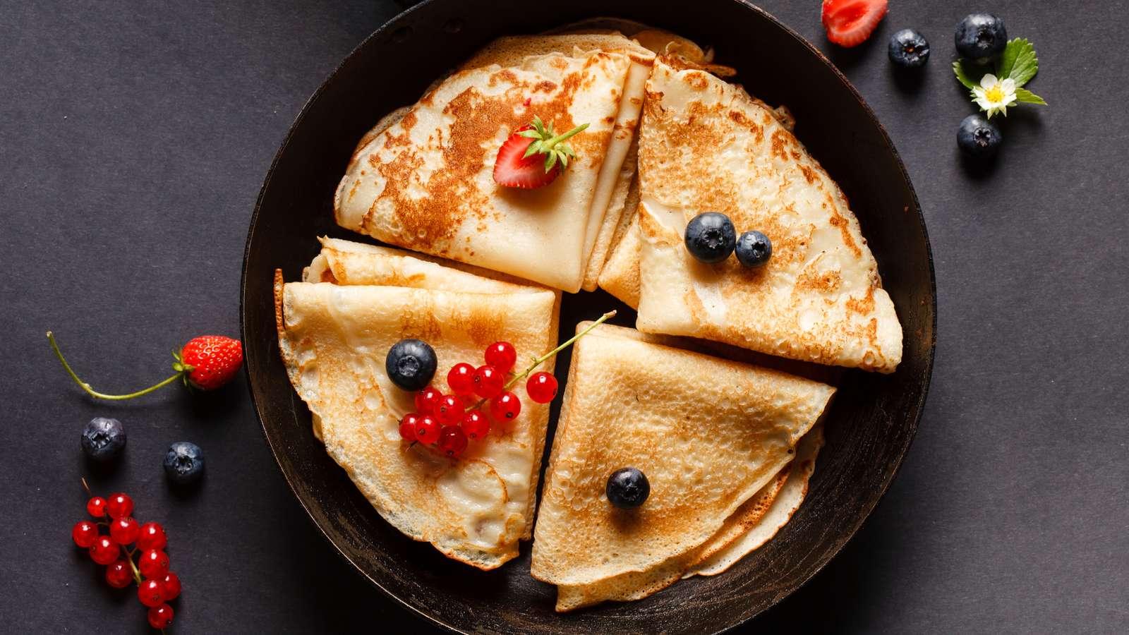 Himbeer Quinoa Pfannkuchen