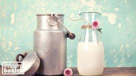 Milchkanne und Milchflasche