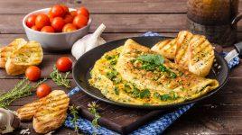 Veganes Omelett zum Frühstück