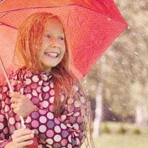 Glücklich auch bei Regen und Problemen