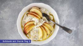 Porridge mit Apfel und Banane für gute Darmbakterien