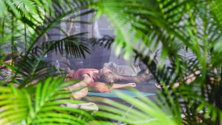 Teilnehmer beim Yoga Groove Festival