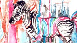 Hochsensible sind besonders - wie bunte Zebras
