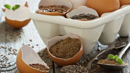 Pflanzliche Ei-Alternativen wie Chia oder Leinsamen