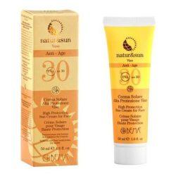 Natur & Sun Bio Gesichts-Sonnencreme Anti-Aging LSF 30