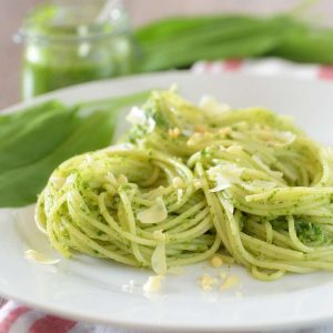 Rezept für glutenfreie Bärlauch Spaghetti