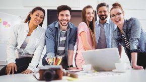 Zufriedene Mitarbeit sind gut für Unternehmen