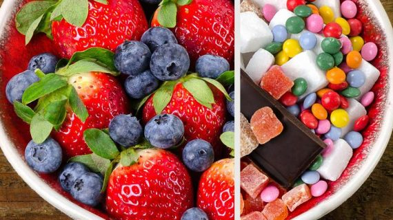 Obst statt Süßigkeiten