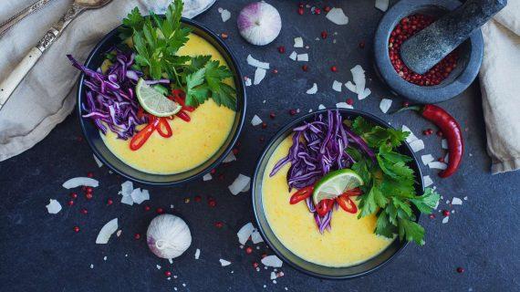 Thai Suppe mit Ingwer