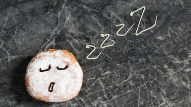 Schlafender Donut - Schlaflos durch Zucker