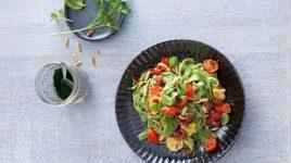 Kochen mit Algen: Grüne Chlorella Nudeln