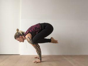 Die Yoga Krähe