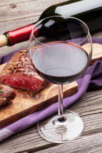 Wein zum Fleisch